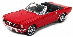 Welly Ford Mustang 1964 1/2 Rood  1:18